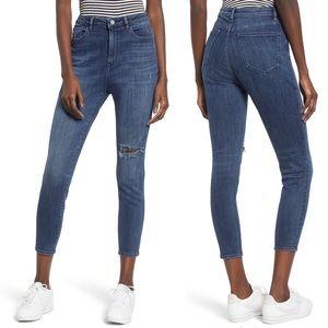 NWT DL1961 Chrissy ultra high rise skinny jeans